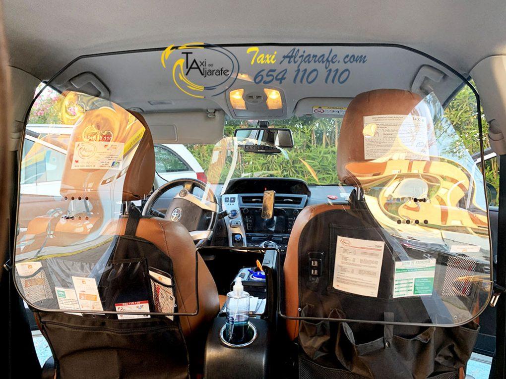 Taxi Radio Aljarafe Mampara covid19